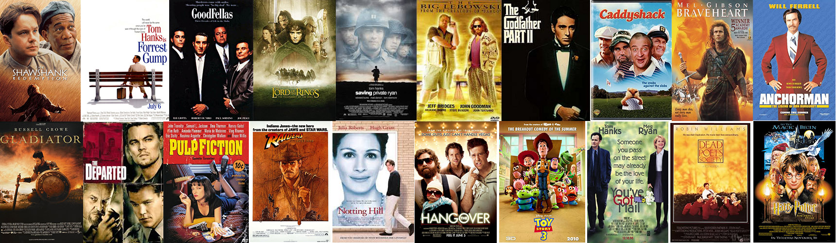 Top 20 Movies Collage